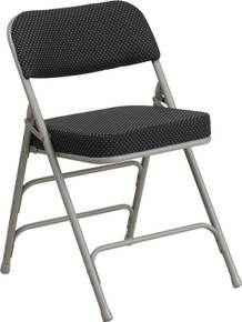 Metal Folding Chairs with Padded Seat and Back, Fabric