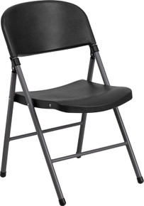 Heavy duty plastic folding banquet chair