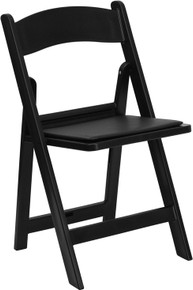 Resin Heavy Duty Folding Chair with Vinyl Padded Seat