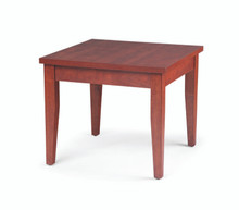 Performance Laminate End Table with wood base