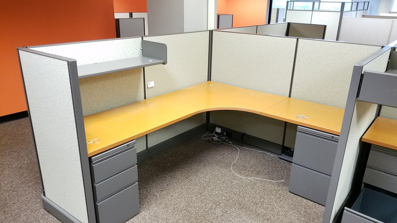 """48 Used Herman Miller AO48 48""""H 48x48 Cubicles"""