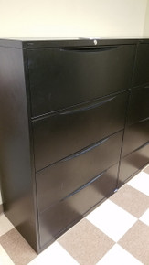 5 Used Vekter 36W 4 Drawer Lateral Files in Black