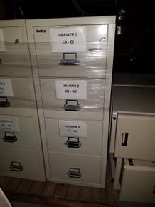Used Schwab 1000 4 Drawer Fireproof File Cabinet