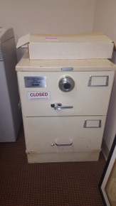 USED MOSIER GSA APPROVED 2 DRAWER FIREPROOF SAFE FILE CABINET