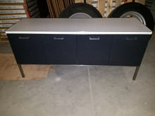 Used Vintage GF Low Metal Credenza 60W x 19D x 26.5H in Good Condition