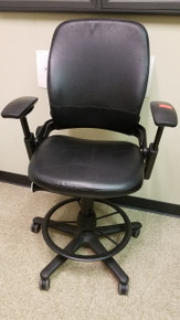 Used Steelcase Leap Leather Ergonomic Work Stools