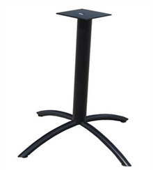 Arched Table X Base Black 24D