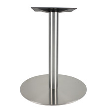 "Brushed Steel Disc Table Base, 29""H"