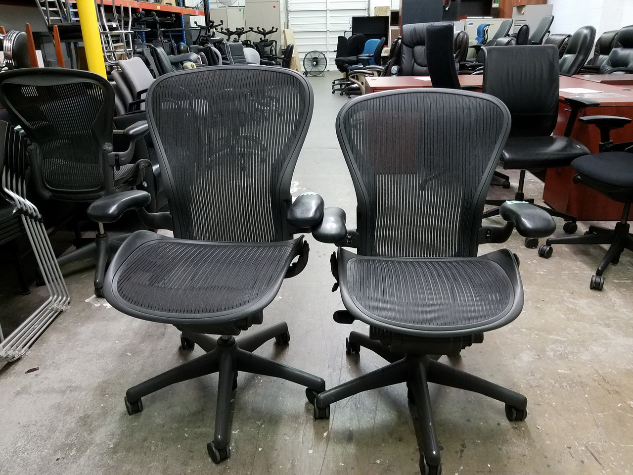 super popular 24e1f 946a0 6 USED Herman Miller Aeron Size B and Size C Mesh Ergonomic Fully  Adjustable Work Chair