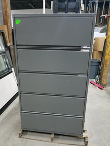 Used Meridian 36W 5 Drawer Lateral Files in Graphite from Easy Office Furniture in Marietta GA and Atlanta GA