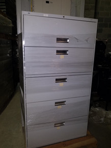 Used Hon 36W 5 Drawer Lateral Files in Light Gray from Easy Office Furniture in Marietta GA and Atlanta GA