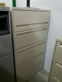Used Hon 36W 5 Drawer Lateral Files in Beige from Easy Office Furniture in Marietta GA and Atlanta GA