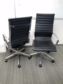 USED High Back Executive Conference Chair with Aluminum Frame from Easy Office Furniture in Atlanta and Marietta GA