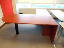 Used Cherry Laminate L Desks from Easy Office Furniture in Atlanta and Marietta GA