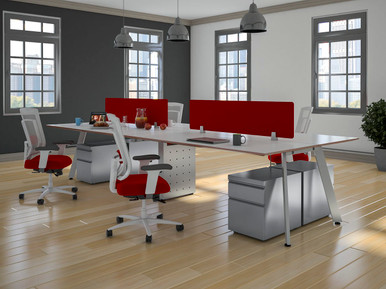 """15""""H Fabric Screens Mountable on Desks and Cubicles from Easy Office Furniture in Atlanta GA and Marietta GA"""