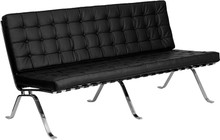 Vintage Series Black Leather Lounge or Reception Furniture from Easy Office Furniture in Atlanta GA and Marietta GA
