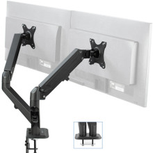 Desk Mount Pneumatic Dual Monitor Arm from Easy Office Furniture in Atlanta GA and Marietta GA