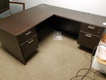 Used L Desks in Espresso from Easy Office Furniture in Atlanta GA and Marietta GA