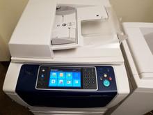 Used Xerox WorkCentre 5855 Monochrome Laser Multifunction Printer Copier Scanner Fax Finisher