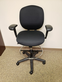 Refurbished Allsteel Trooper Adjustable Work Stool from Easy Office Furniture in Marietta GA and Atlanta GA