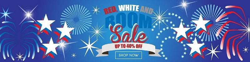 Knife Block: Red, White and Boom Sale