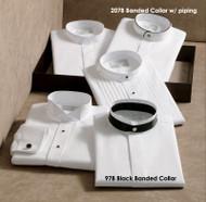 White dress shirt with black banding