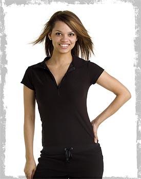 Half zip women's uniform shirt