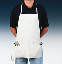 Canvas full bib apron for hard working employees