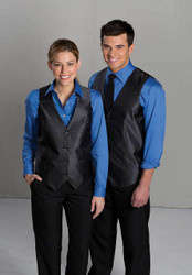 Black uniform vest for casino employees