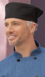 Black beanie chef hat