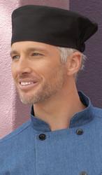 Black beanie chef hat