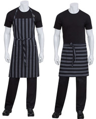 Striped Waist aprons and full bib aprons