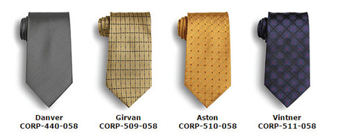 Business ties in different patterns