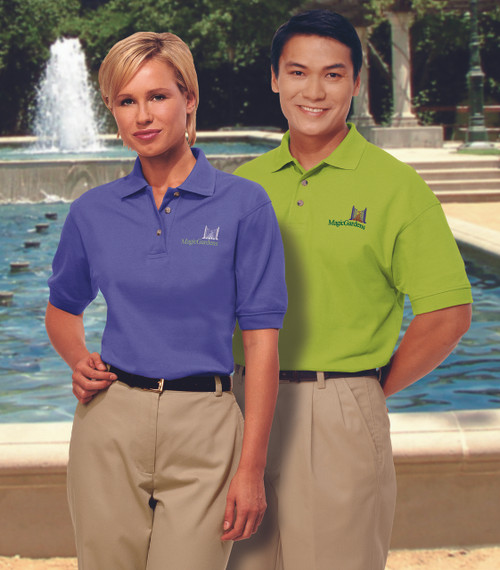 Cotton polo uniform shirts are great for personalizing