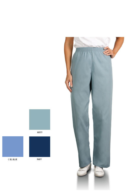 Unisex sizing for these scrub pants with an elastic waist