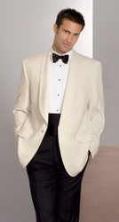 Ivory Tuxedo uniform jacket for upscale restaurants