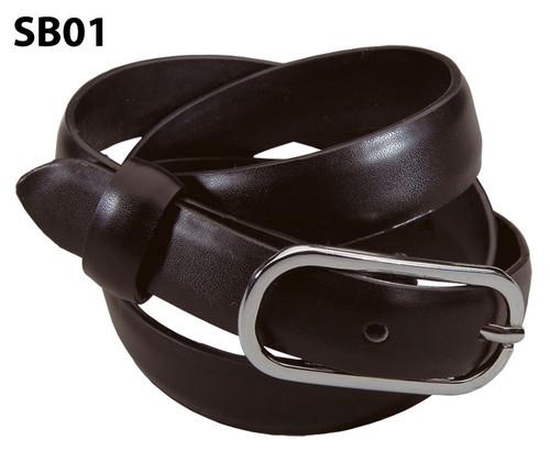 Brown women's leather belt
