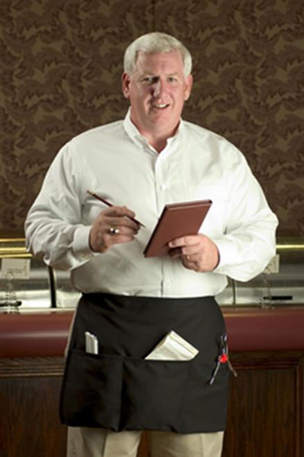 Longer waist apron, yet not a bistro apron.