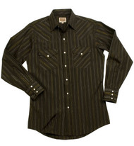 Striped western style uniform shirt