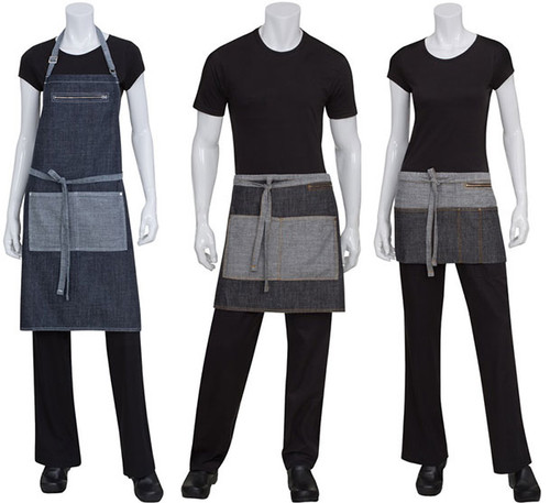 Zippered pockets make this apron line unique!