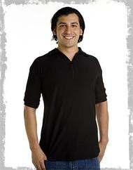 Collared 1/4 zip men's polyester shirt