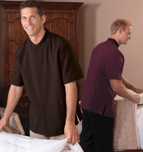 Men's housekeeping tunic available in 3 colors