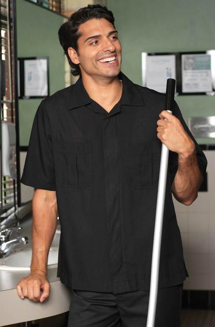 Men's polyester housekeeping shirt