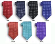 Fun polka-dotted tie
