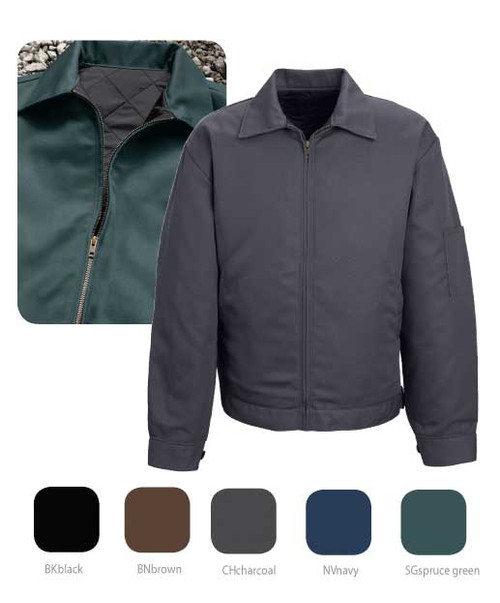 Working utility jacket with a black quilter lining
