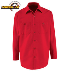 Long sleeve work shirt is handsome and durable