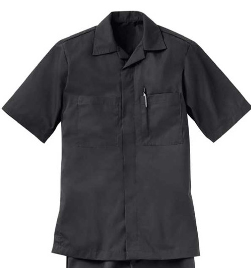 Work shirt with a convertible collar