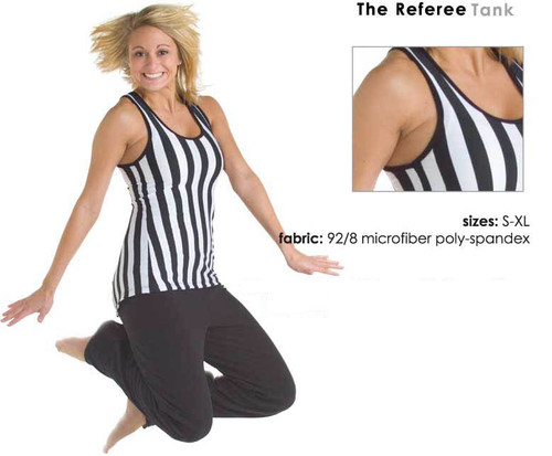 Referee style tank top for sports bars