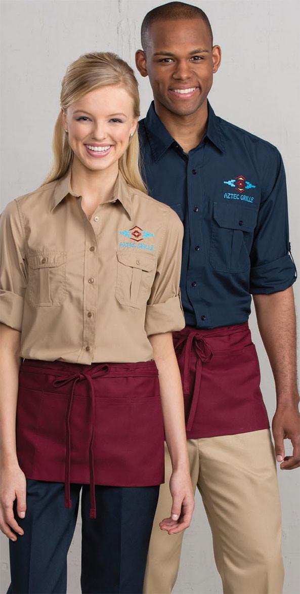 39ad9593 Roll Sleeve Uniform Shirt. $30.36. Stylish yet durable option for your  waitstaff