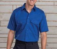 Blue safari uniform shirt